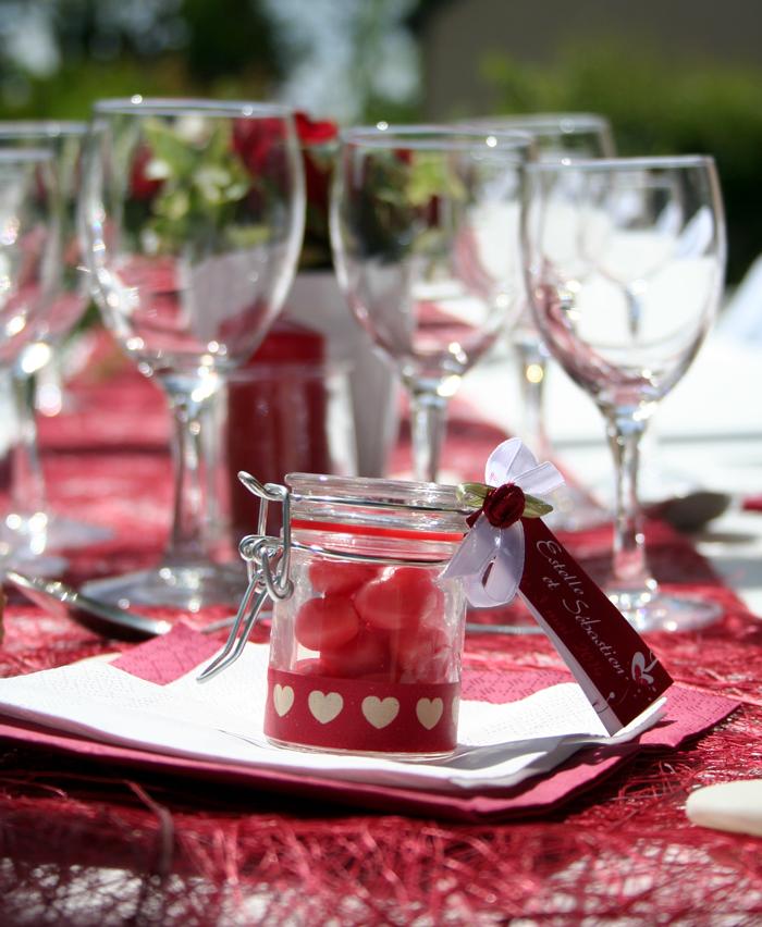 Déco mariage rouge et blanc