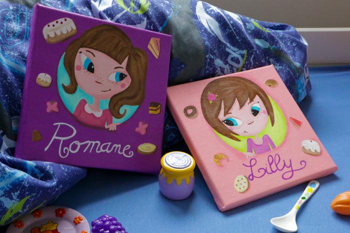 Tableaux personnalisés – Romane et Lilly