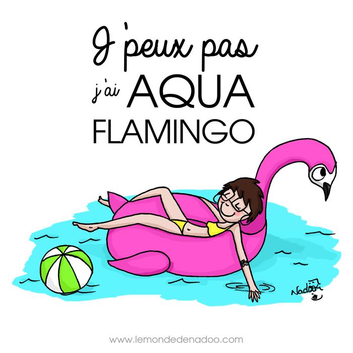 Aqua Flamingo