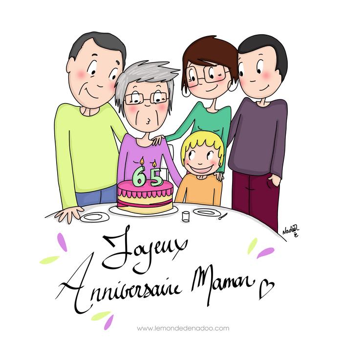 Bel anniversaire Maman